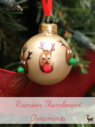 Amazing Homemade Keepsake Christmas Ornaments Part - 4: Make A Cute Ornament  With Rudolph And