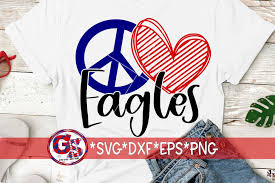 Free transparent eagle vectors and icons in svg format. Peace Love Eagles Svg Dxf Eps Png 720544 Svgs Design Bundles