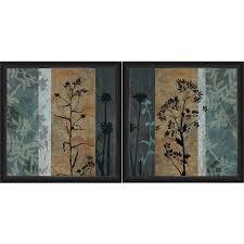 framed blue wall art set