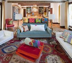Boho Eclectic Decor Southwestern Living Room And Eclectic Armchairs And Accent Chairs