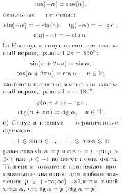 Школа рефераты сочинения задачи шпаргалки Свойства  Свойства тригонометрических функций