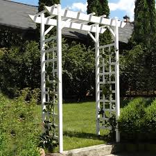 garden arbor lowes. Exellent Lowes DuraTrel 53ft W X 7ft H White Garden Arbor Intended Lowes D