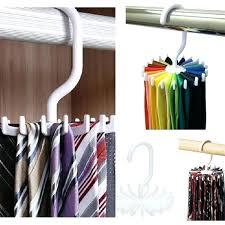 tie rack hanger belt holders racks organizer closet hooks rotating men neck ties housekeeping organization hangers tie rack