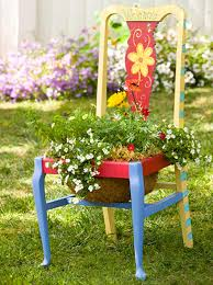 Garden Chair Planters Decorating Ideas