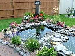 natural stone decor for fish pond above ground designs design idea above ground fish pond designs