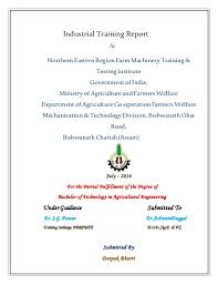 Training Report Cover Page Cover Page Assam