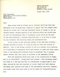 albert einstein einstein s letter to franklin d roosevelt
