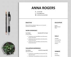 First Job Cv Resume Template Word First Job Cv Template One Page Resume High School Student Teenagers Professional Clean Modern Simple Anna
