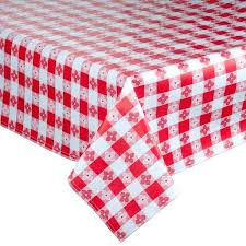 checd vinyl table cover with flannel back flannel back tablecloth red checd vinyl table cover with