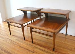 incredible lane furniture end tables within mid century modern 2 tiered side from the acclaim decor