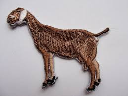 Boer Goat Embroidery Designs 2 81 Nubian Dairy Goat Iron On Embroidered Applique Patch