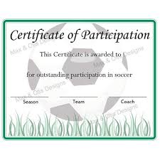 Free Soccer Certificate Templates Free Printable Soccer Participation Certificate Soccer