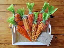 snacks packaged as carrots