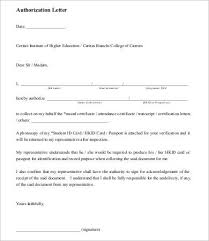 Authorization Letter To Collect Certificate