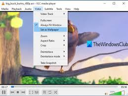 video as desktop background in Windows 10