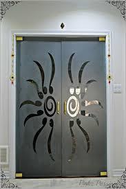 pooja door design door glass design