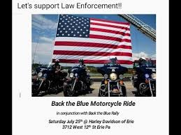 back the blue motorcycle ride erie pa