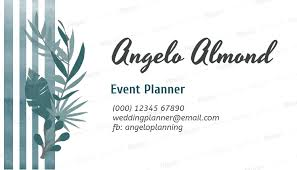 business card tamplate event planner business card template 113e