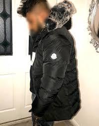 moncler winter fur coat black khaki green small medium large xl l