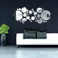 wall art mirror crystal