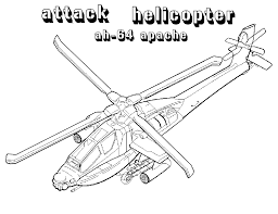 Apache Attack Helicopters Coloring Pages For
