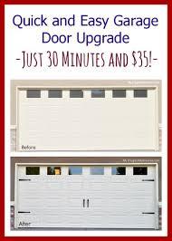 quick easy diy garage door upgrade
