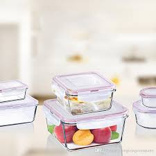 hot heat resisting glass tempered glass food container transpa microwave food storage container box food savers fresh keeping from china