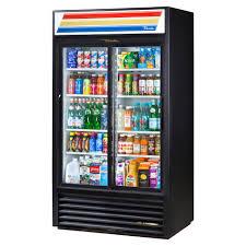 true gdm 37 ld 44 sliding glass door merchandiser refrigerator led commercial refrigerators food service warehouse