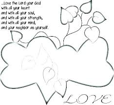 Love Thy Neighbor Coloring Pages Printable Coloring Page For Kids