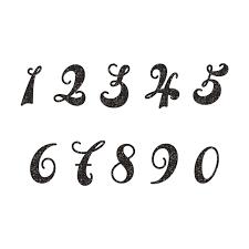 Illustmansion おしゃれで目立つ数字 ナンバー スタンプ 白黒