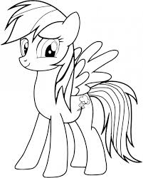 Rainbow Dash Coloring Pages Free Kidswoodcrafts Coloring Sheets