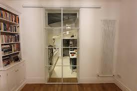 metal framed doors black glass door