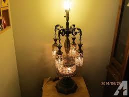 1960 s rare antique vintage brass crystal chandelier