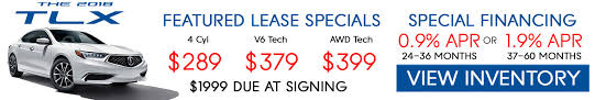 2018 acura lease specials. delighful 2018 2018 acura tlx lease u0026 finance specials for acura lease specials