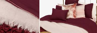 burdy and light pink bedding
