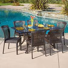 wicker patio dining chairs. Unique Wicker Florence Patio Furniture  Outdoor Cast Aluminum Dining Table With Wicker  Chairs 7 To