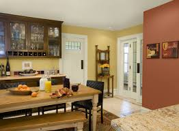 Yellow And Brown Kitchen Kitchen Wonderful Kitchen Painting Ideas With Wooden Material