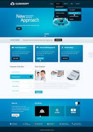 web template design software. Website Template 39724 Cloudsoft Software Company Custom Website