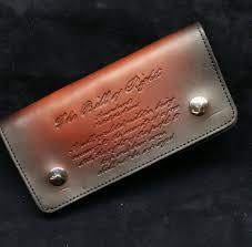 biker style custom wallet