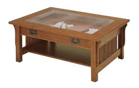 display coffee table white glass top display coffee table