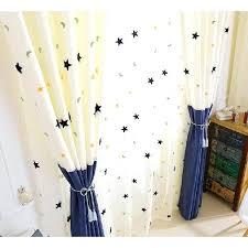 Custom Chenille Blue White Kids Star Curtains Blue And White ...