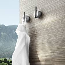 towel hooks. Modern Towel Hook/Duo Wall Hook, Screw-On From Blomus|YLiving Hooks