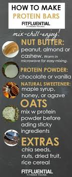 make your own protein bars fitfluential