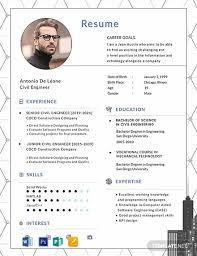 Free Civil Engineer Resume Template Word Psd Indesign