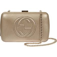 gucci clutch. gucci gold leather broadway hard case clutch bag a