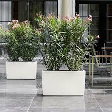 Fioriera rettangolare cararo 75x30 vaso con auto irrigazione