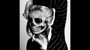 lady a born this way skeleton makeup tutorial
