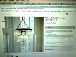 crystal ambient lamp chandeliers pottery barn crystal small chandelier new in box lovely sold out image