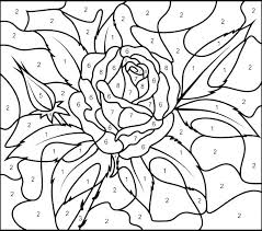 coloring number sheets color by number pages for s printable coloring number 1 coloring pages preers