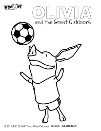 Olivia The Pig Coloring Pages Olivia The Pig Printable Coloring